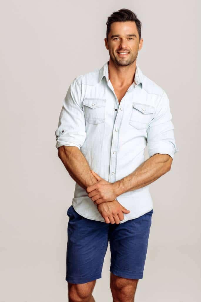 mode homme chemise bermuda